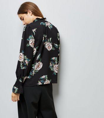 AX Paris Black Floral Print Funnel Neck Top New Look