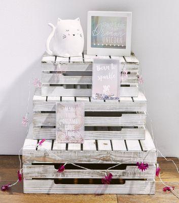 White Sleeping Cat Money Box New Look