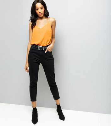 Orange V Neck Cami Top New Look