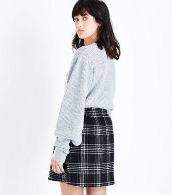 Tall Black Check Zip Pocket Mini Skirt New Look