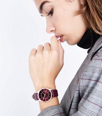 Purple Strap Watch New Look