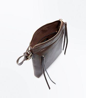 Dark Brown Cross Body Bag New Look