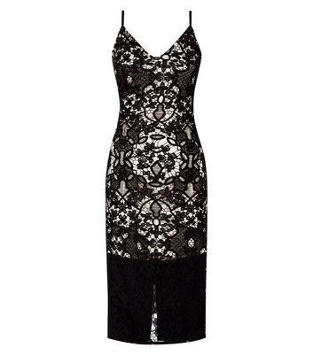 Parisian Black Lace Midi Dress New Look
