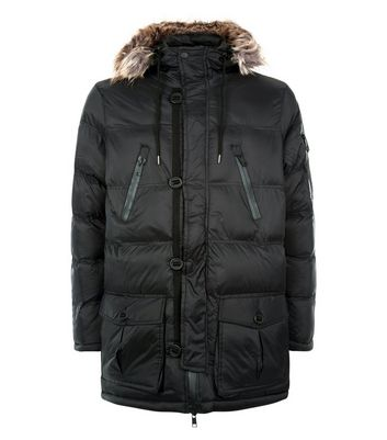 Black Puffer Parka New Look