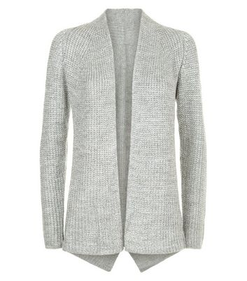 Mela Silver Knit Cardigan New Look