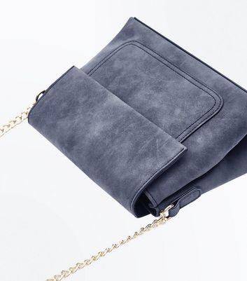 Dark Grey Fold Top Cross Body Bag New Look