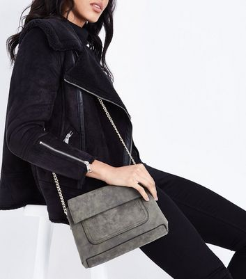 Khaki Fold Over Cross Body Bag New Look