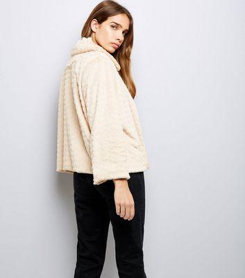 Mela Cream Faux Fur Jacket New Look