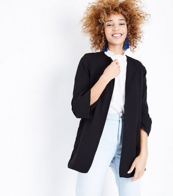 Mela Black Bell Sleeve Jacket New Look