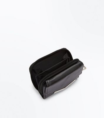 Black V Front Small Purse New Look
