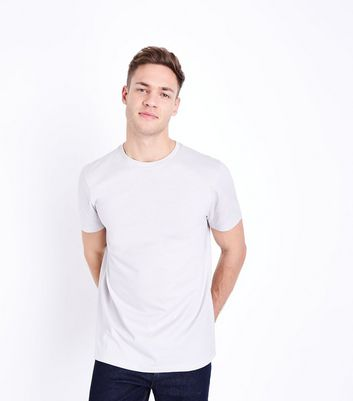 Pale Grey Crew Neck T-Shirt