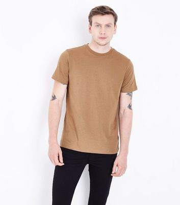 Camel Crew Neck T-Shirt New Look