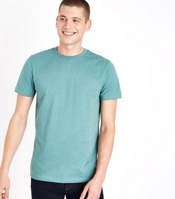 Blue Crew Neck T-Shirt New Look
