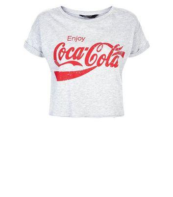 Teens Grey Enjoy Coca Cola Slogan T-Shirt New Look