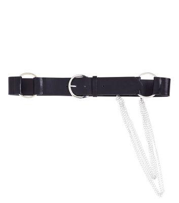 Black Chain Drop Jeans Belt New Look