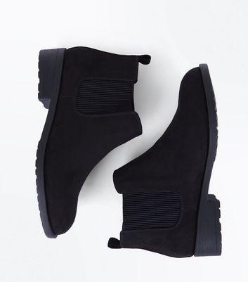 Teens Black Suedette Chelsea Boots New Look