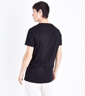 Black Riot Print T-Shirt New Look