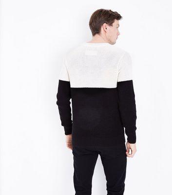 Black Contrast Block Jumper New Look