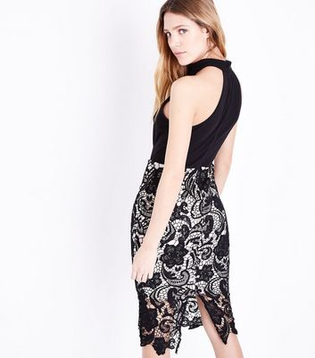 AX Paris Black Crochet Midi Dress New Look