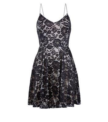 AX Paris Black Lace Strap Back Dress New Look