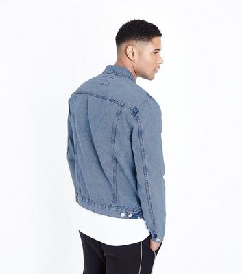 Pale Blue Denim Jacket New Look