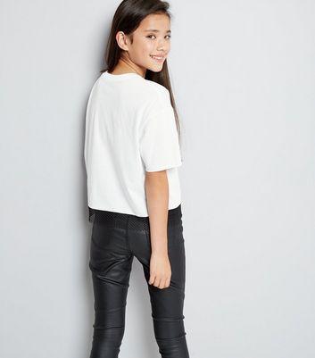 White Brooklyn Print Mesh T-Shirt New Look