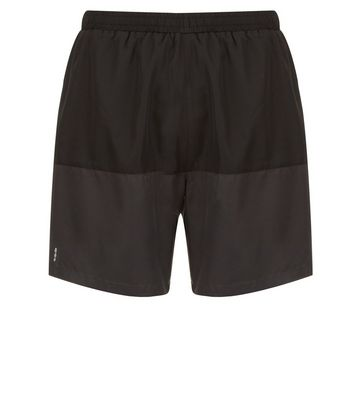Dary Grey Colour Block Sports Shorts New Look