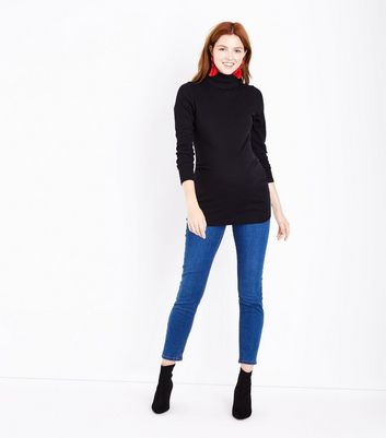 Maternity Black Roll Neck Top New Look