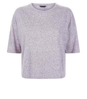 Grey Marl Boxy T-Shirt New Look