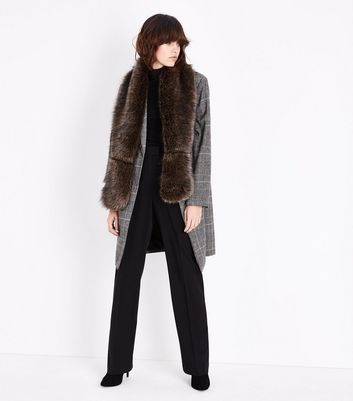 Mink Faux Fur Stole New Look