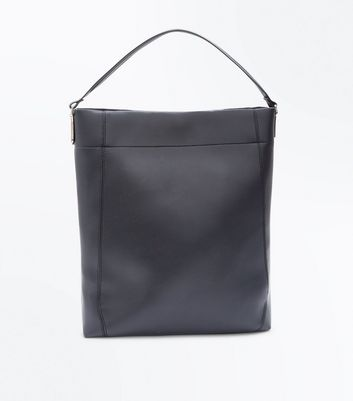 Black Oversized Tote Bag New Look