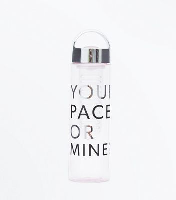 Black Your Pace Or Mine Infuser Water Bottle New Look