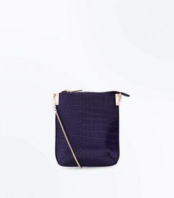 Purple Pouch Cross Body Bag New Look