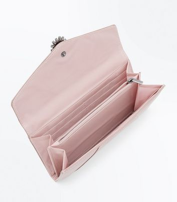 Pink Diamante Embellished Front Purse New Look