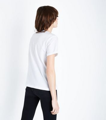 White Cotton T-Shirt New Look