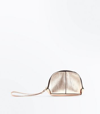 Gold Zip Around Purse New Look