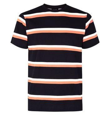 Black Contrast Stripe T-Shirt New Look