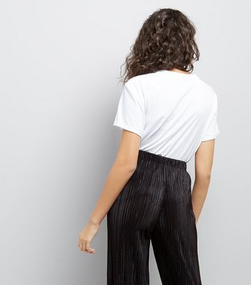 Black Pleated Trousers New Look