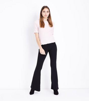 Pink Ribbed Half Sleeve T-Shirt New Look