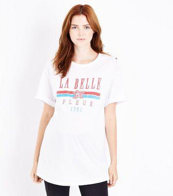 Maternity White La Belle Fleur T-Shirt New Look
