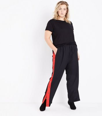Curves Black Oversized T-Shirt New Look