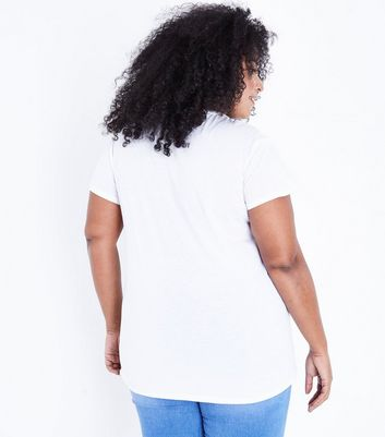 Curves White Oversized T-Shirt New Look