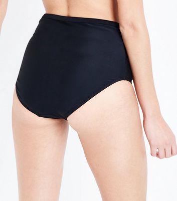 Black High Waisted Bikini Bottoms New Look