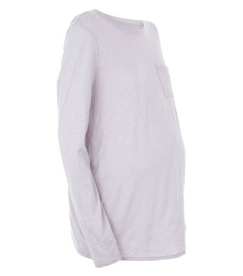 Maternity Grey Organic Cotton Long Sleeve Top New Look