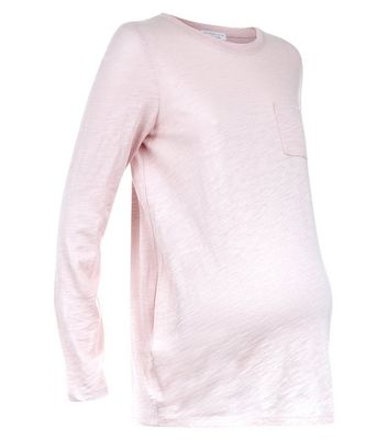 Maternity Pink Organic Cotton Long Sleeve Top New Look