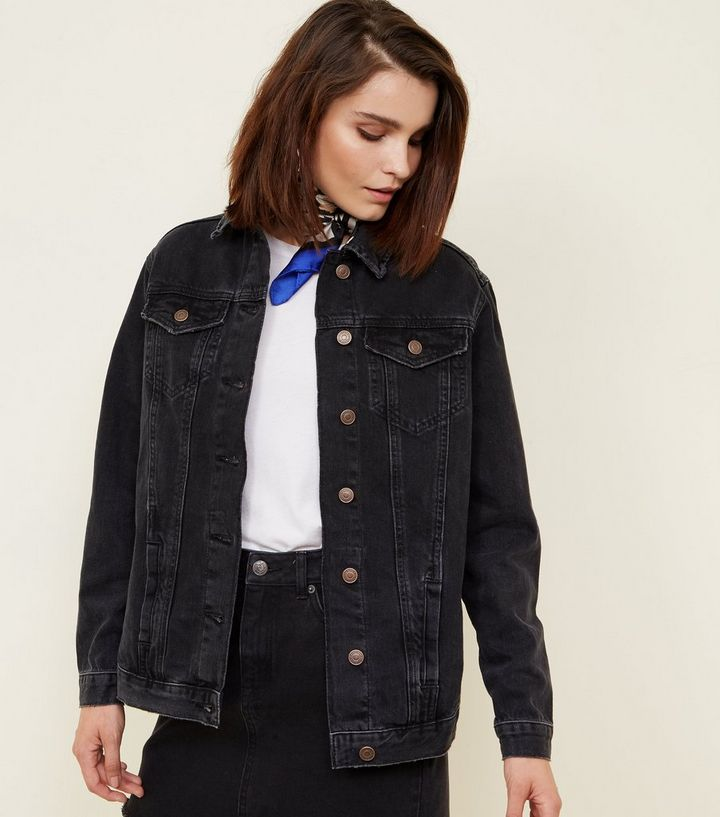 4b3dac0ba20e Black Oversized Denim Jacket | New Look