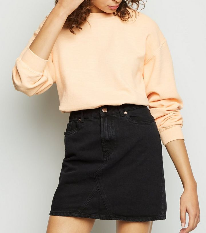 83b3553895 Black Denim Mini Skirt | New Look