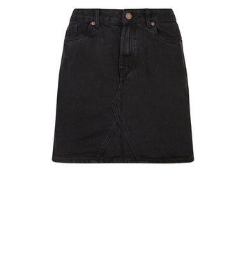 Black Denim Mini Skirt New Look
