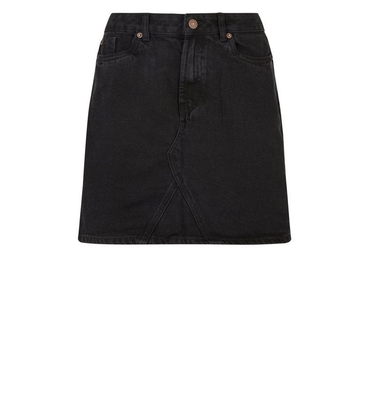 a6bd34282b6 Black Denim Mini Skirt