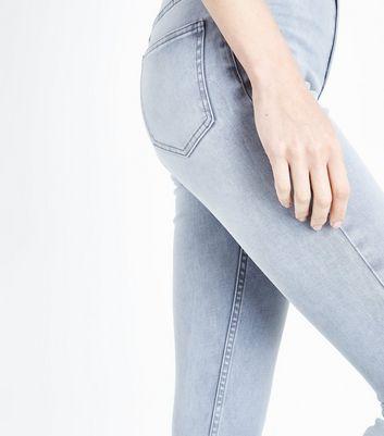 Grey High Waist Super Skinny Hallie Jeans New Look